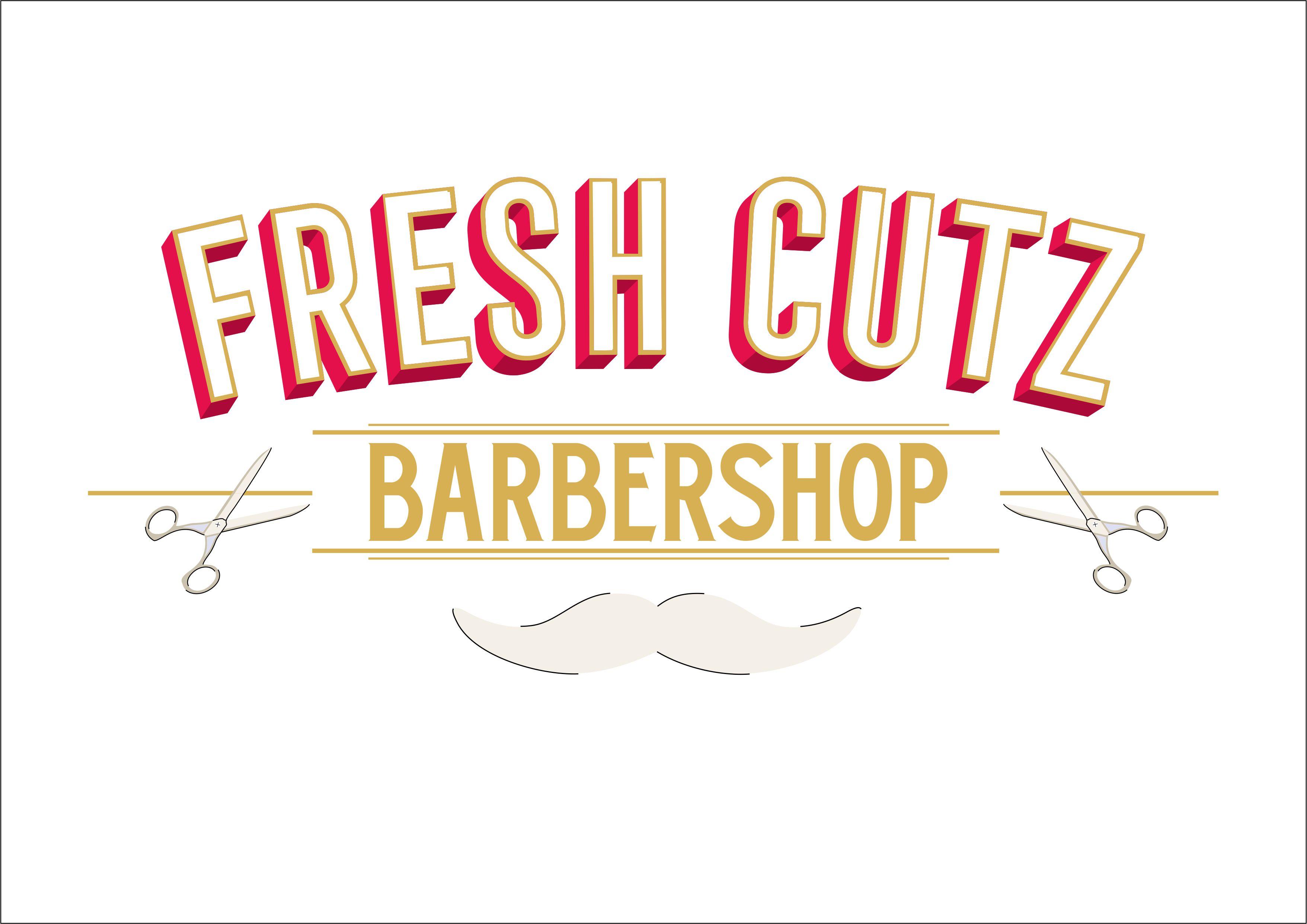 Fresh cutz barbershop logo