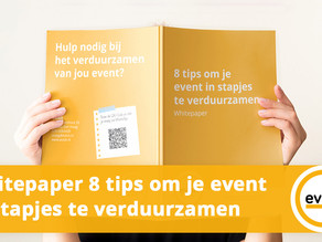 8 tips om jou event in stapjes te verduurzamen
