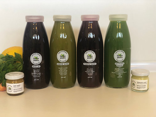 Sıvı Detoks Plus Paketi - 2 Green Juices, 2 Beet Juices & 2 Shots