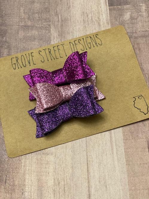 Rapunzel Inspired Glitter Bows
