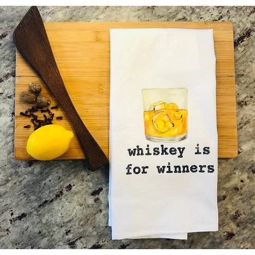 Whiskey is for Winners Tea Towel