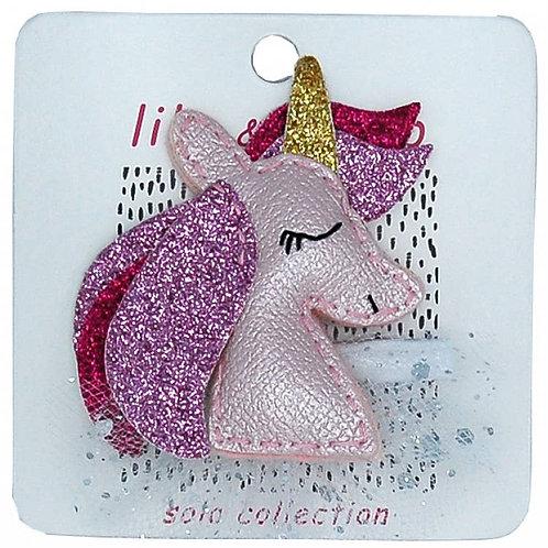 Pretty Pink Unicorn Clip
