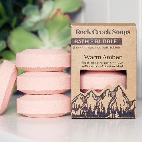 Bath Bomb Set Warm Amber
