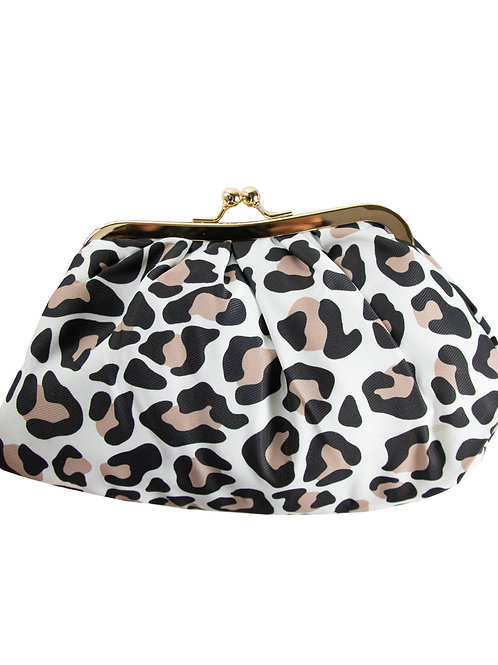 Cosmetic Clutch Bag Vintage Leopard