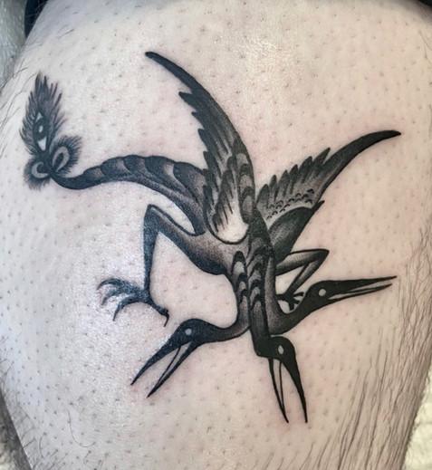 3 headed bird