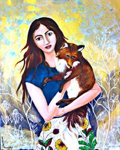 My Darling Fox  55x45cm