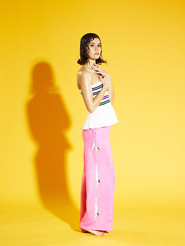 DIVING GIRL WIDE LEG TROUSERS