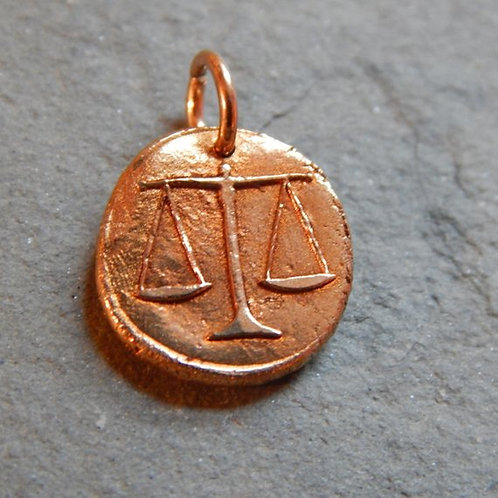 Scales of Justice Wax Seal Charm