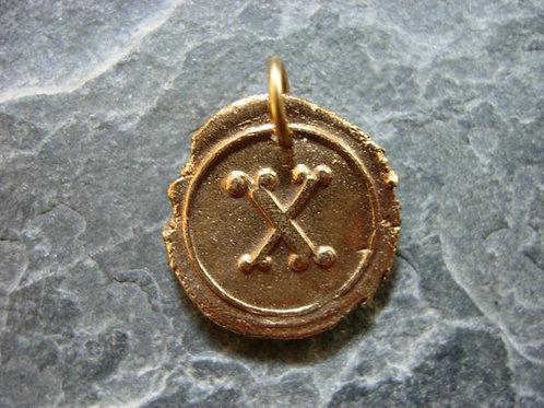 X Wax Seal Charm