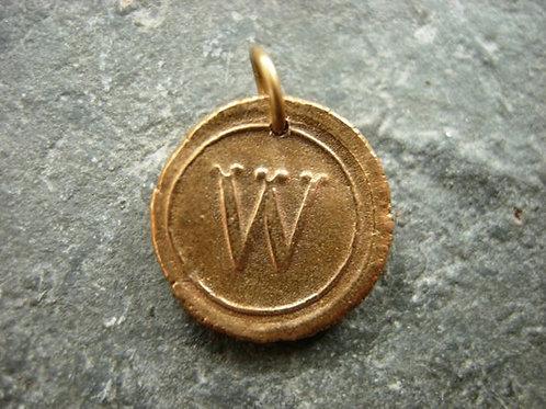 W Wax Seal Charm