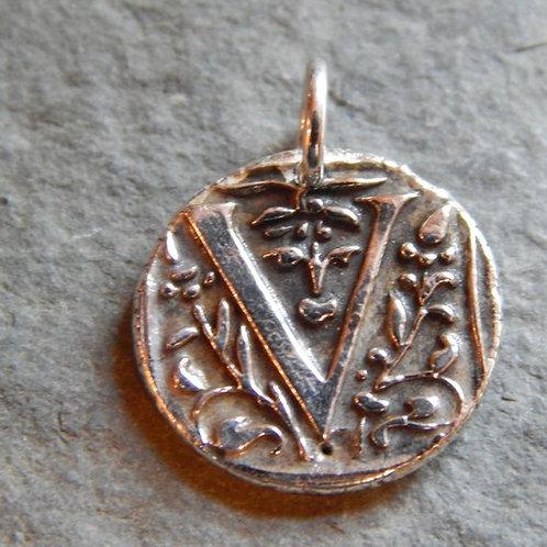 V Wax Seal Charm