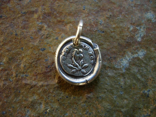 Forget me Not Wax Seal Charm