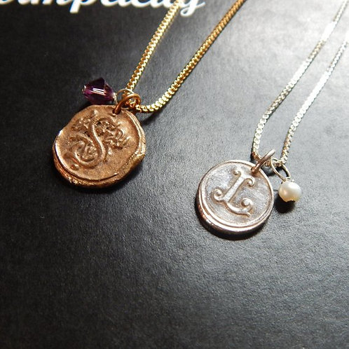 Create your Own Wax Seal Charm Necklace