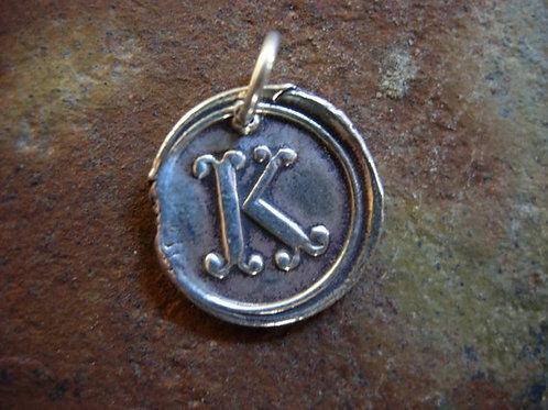 K Wax Seal Charm