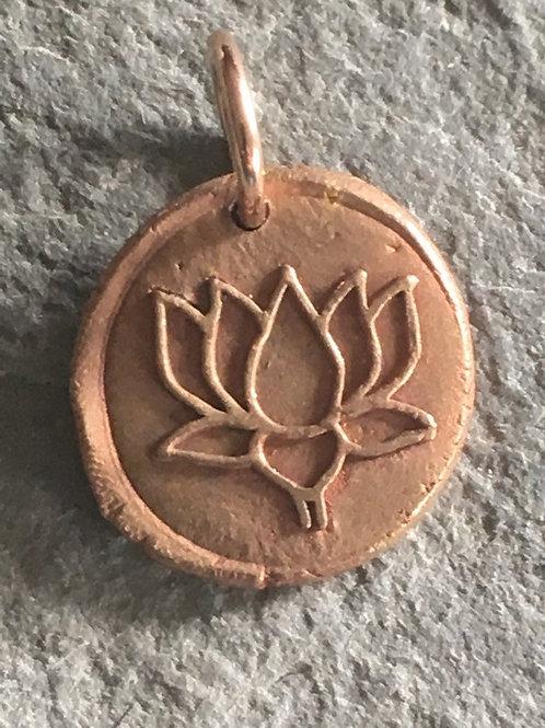 Lotus Flower Wax Seal Charm