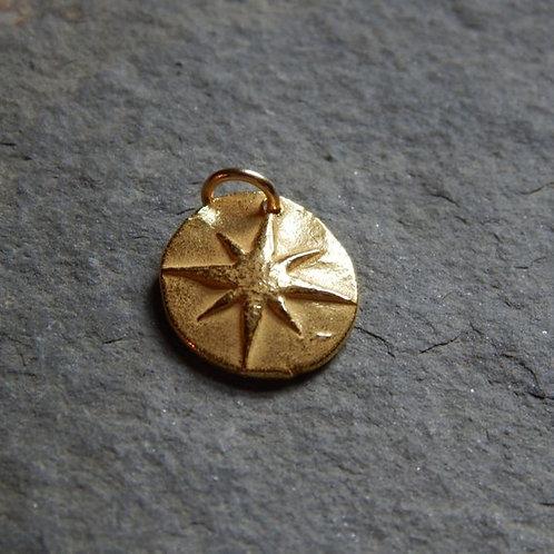 22kt Gold North Star Wax Seal Charm
