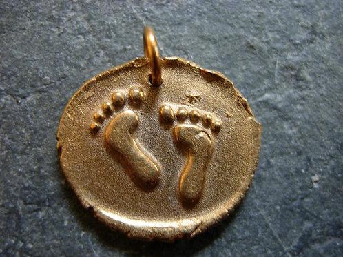 Footprints Wax Seal Charm