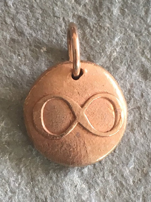 Infinity Wax Seal Charm