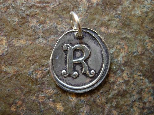 R Wax Seal Charm