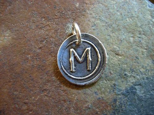 M Wax Seal Charm
