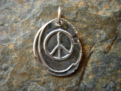 Peace Sign Wax Seal Charm