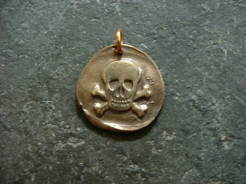 Skull & Crossbones Wax Seal Charm