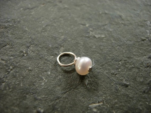 Freshwater Pearl Charm with sterling silver