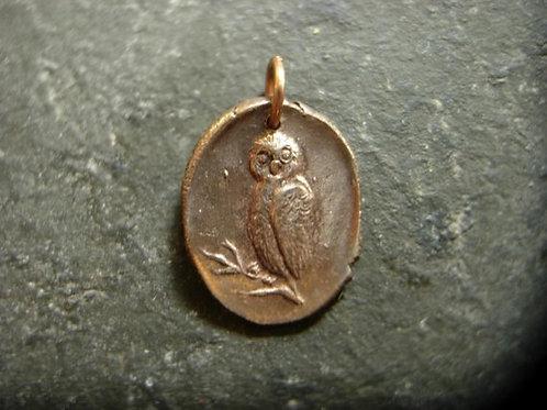 Owl Wax Seal Charm