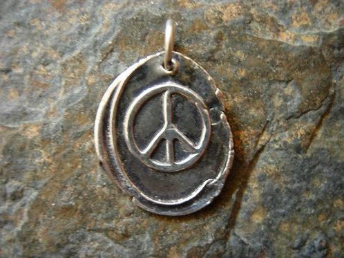 Peace Wax Seal Charm