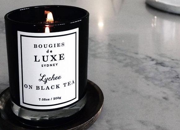 BOUGIES DE LUXE LYCHEE ON BLACK TEA