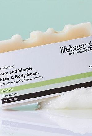 LIFE BASICS - OLIVE, COCONUT, ALMOND SOAP