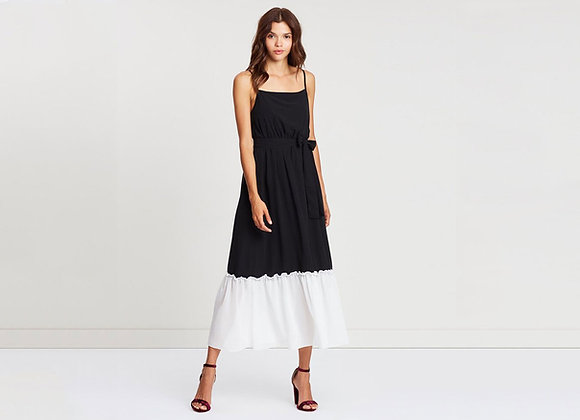 ATMOS & HERE CONTRAST PLEAT DRESS