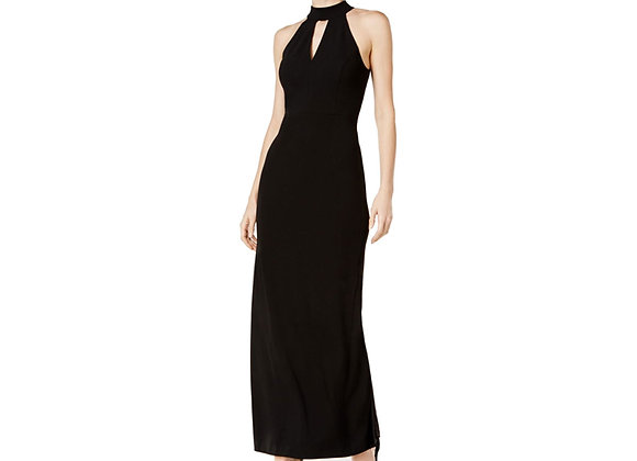 CALVIN KLEIN KEYHOLE HALTER DRESS