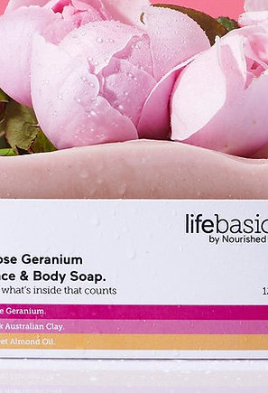 LIFE BASICS - ROSE GERANIUM SOAP