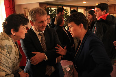 Ruth Davidson, Gregori Ivliev and Ekaterina Genieva