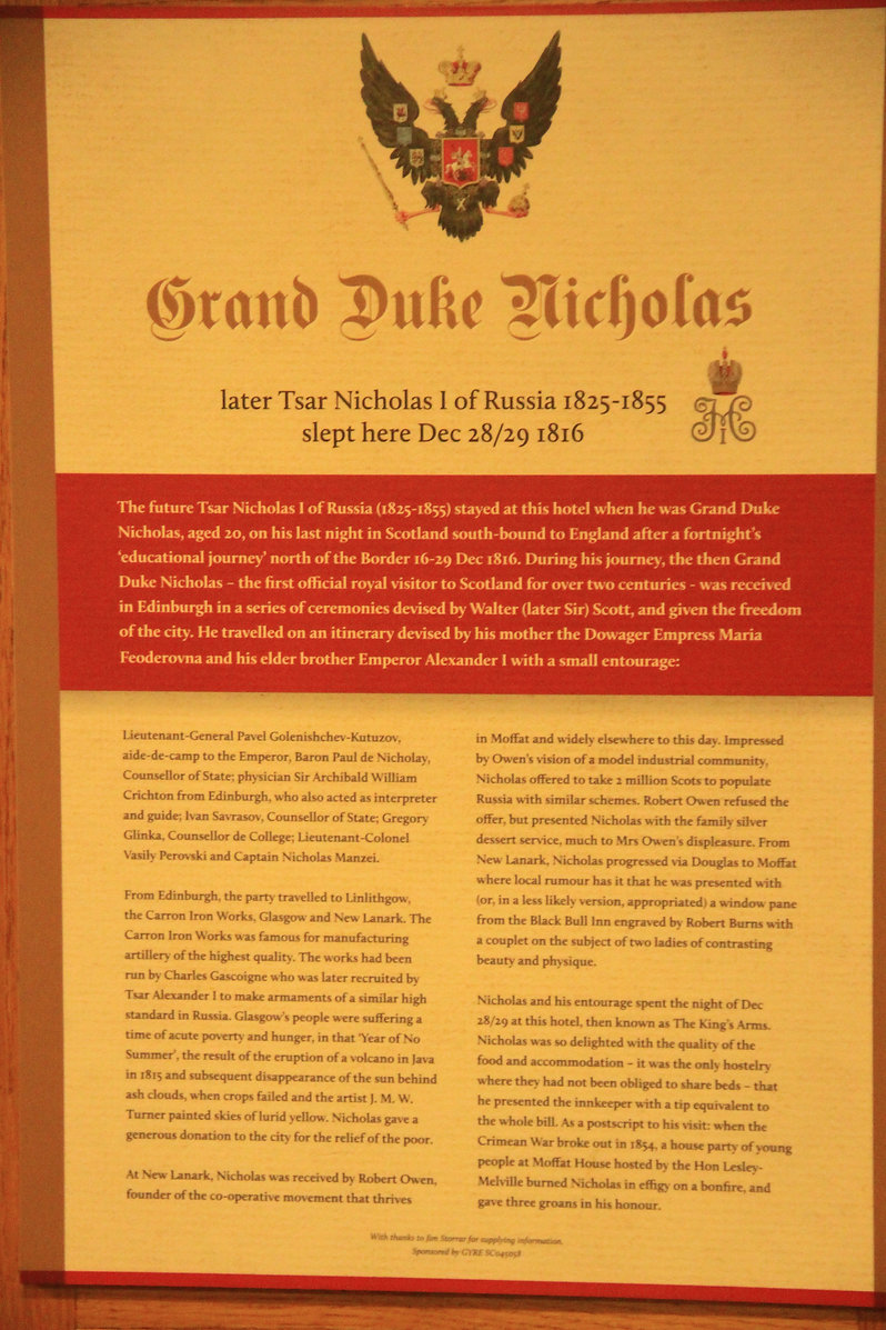 Tsar Nicholas I visit to Annandale Arms Hotel 200th anniversary