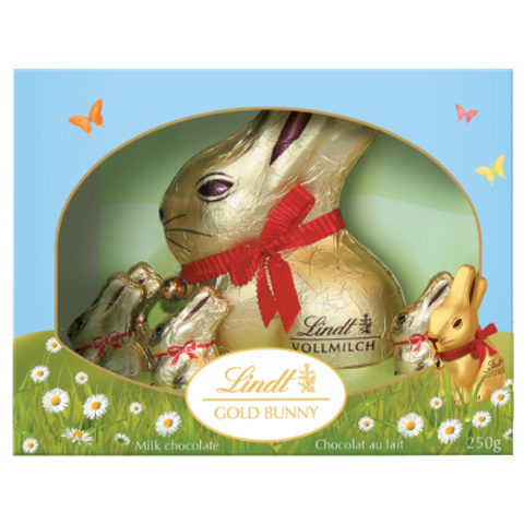 LINDT LAPIN DORE BTE CAD  250G