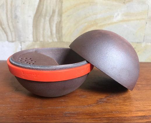 Ball-shaped purion teapot - brown (120ml)