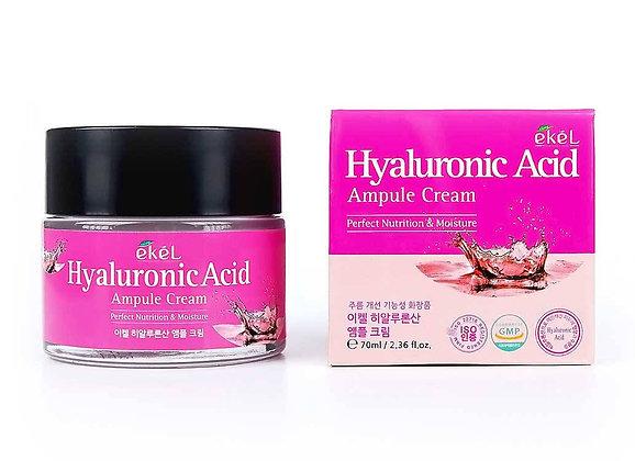 """EKEL """"Ampule Cream Hyaluronic Acid"""" Ампульный крем с гиалуроновой кислотой, 70мл"""