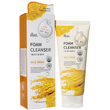 """EKEL """"Foam Cleanser Rice Bran"""" Пенка для умывания с экстрактом коричневого риса,"""