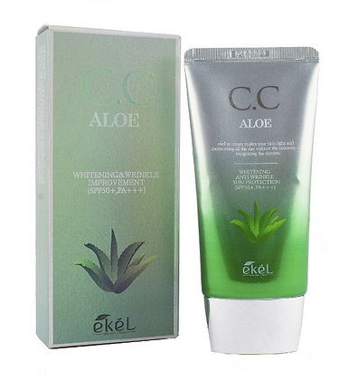 "EKEL ""CC Cream (Tube) Aloe"" СС Крем с экстрактом алоэ, 50мл."
