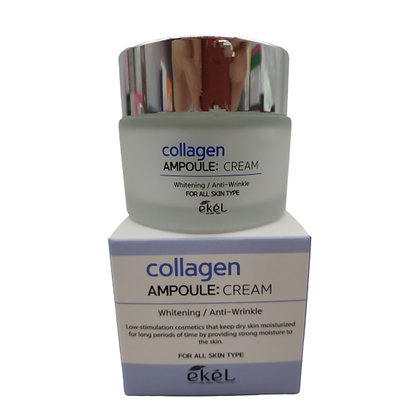 "EKEL ""Ampoule Cream Collagen"" Крем для лица с коллагеном, 50мл."