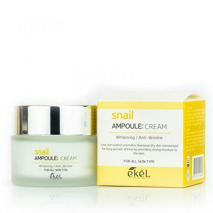 "EKEL ""Ampoule Cream Snail"" Крем с экстрактом улиточного муцина, 50мл."