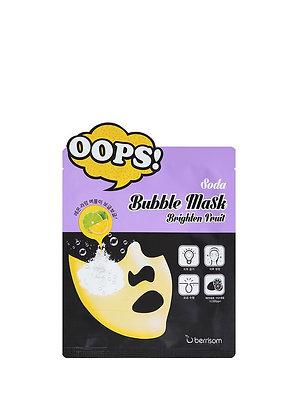 Berrisom, Soda Bubble Mask - Brighten Fruit