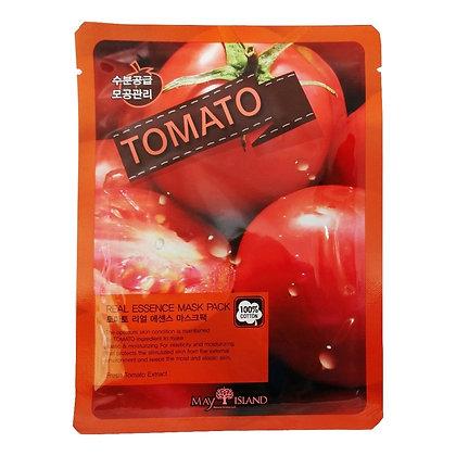 May Island Real Essense Tomato Mask Pack Тканевая маска с томатом, 10шт.25мл.