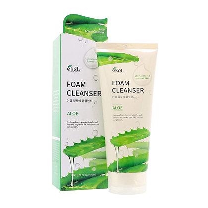 "EKEL ""Foam Cleanser Aloe"" Пенка для умывания с экстрактом алоэ, 180мл."