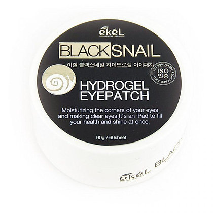 "EKEL ""Eye Patch Black Snail"" Патчи для глаз с улиточным муцином, 90гр, 60шт."