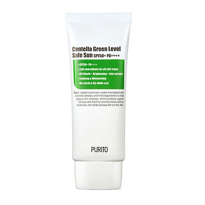 PURITO Centella Green Level Safe Sun Солнцезащитный крем, SPF50+PA++++,60 мл