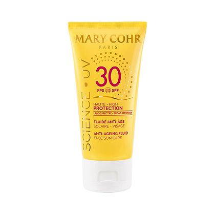 Mary Cohr, Fluide Anti-Age Visage SPF 30, Sonnenschutzfluid.Schutz - Anti-Aging