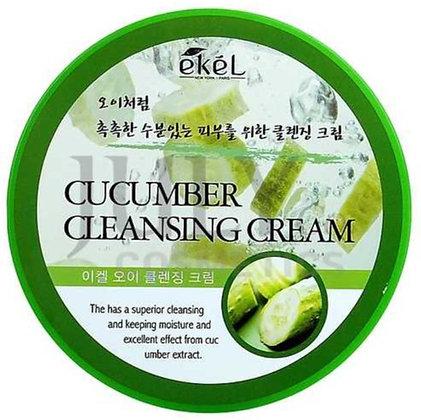 "EKEL ""Cleansing Cream Cucumber"" Очищающий крем с экстрактом огурца, 300мл."